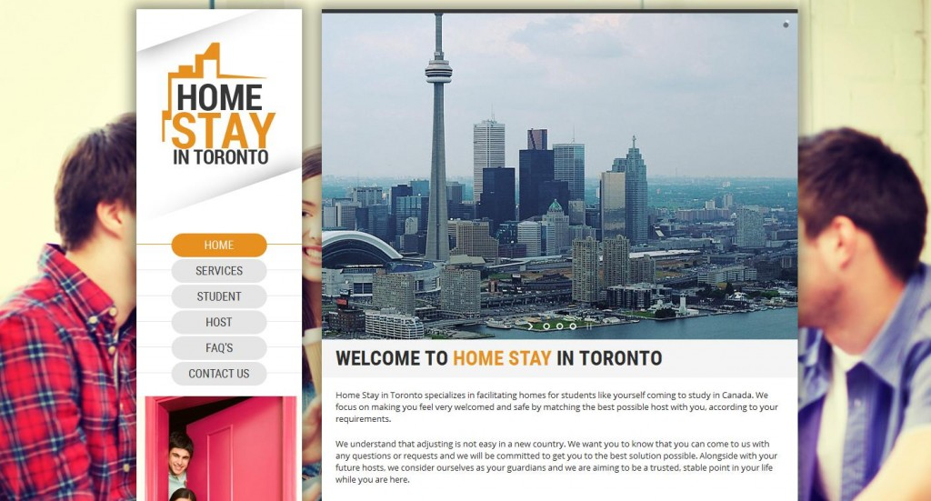 home stay in toronto - web design