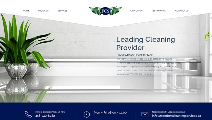 Website Launch: Freedom Cleaning Services