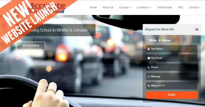 Website Launch: Accurate Driving School