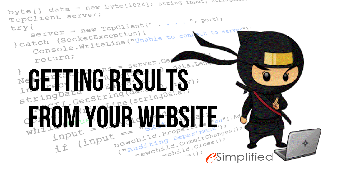 get results from website blog post by esimplified inc. web desite and development company
