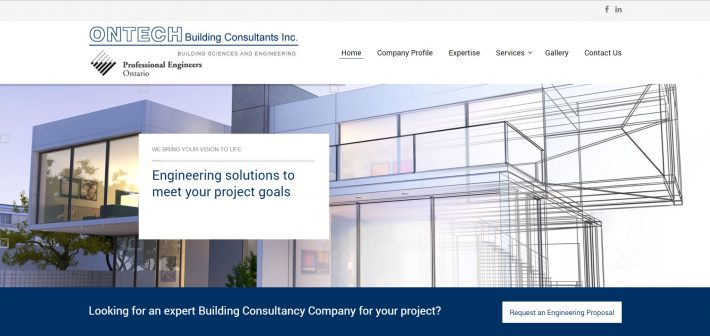 Website Launch: Ontech Building Consultants