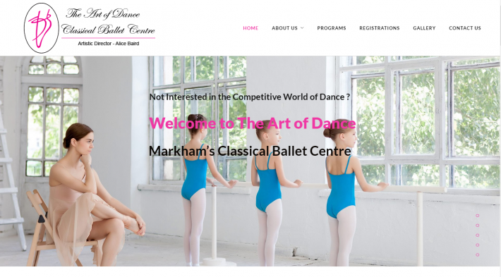 Website Launch: The Art of Dance Markham